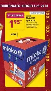 Mleko Łowickie UHT 3,2% 1.95 zł przy zakupie 6 szt. Aldi