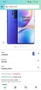 Smartfon Oneplus 8 pro 12/256 gb