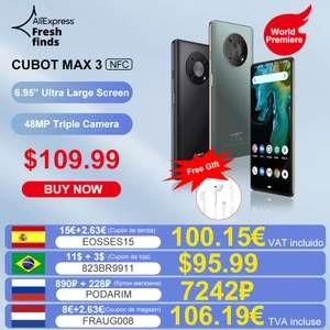 """Smartfon Cubot Max 3 (6,95"""", 4GB RAM, 64GB pamięci, 5000mAh) @ AliExpress"""