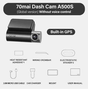 70mai A500S Wideorejestrator 80.44USD z VAT
