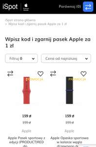 Pasek do Apple Watch za 1zł przy zakupie zegarka Apple Watch (modele objęte promocją wymienione w Regulaminie)