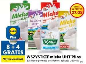 Wszystkie mleka UHT Pilos - 8+4 gratis (rabat 33% na każde)