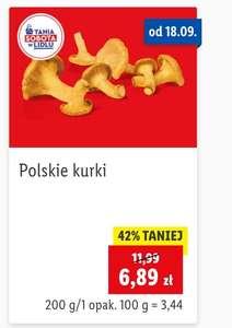 Polskie kurki opakowanie 200g | 34,45/kg | LIDL |