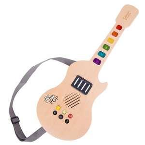 CLASSIC WORLD Gitara Drewniana Elektryczna Świecąca Dla Dzieci
