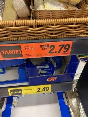 Burrata w Lidlu za 2,79