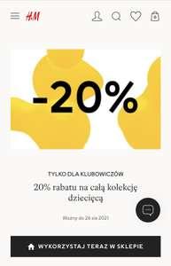 H&M -20% na odzież dla dzieci w sklepach stacjonarnych z kuponem w Klubie H&M
