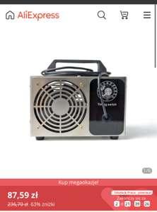 Generator ozonu 220V 10g/ 24g/ 28g(21,57$) AliExpress