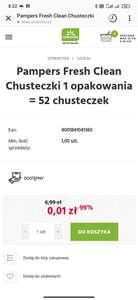Chusteczki Pampers Fresh Clean 52 sztuki MWZ 50 zł
