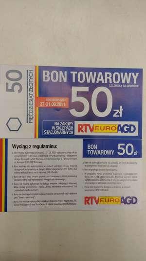 Bon 50zł na zakup w sklepach stacjonarnych MWZ500ZŁ