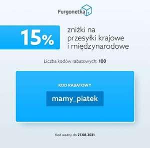 Kod rabatowy furgonetka.pl 15% 100szt