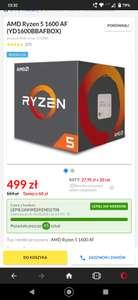 Procesor AMD Ryzen 5 1600 AF (YD1600BBAFBOX)