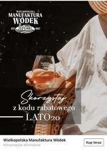 Rabat 20% na alkohole Wielkopolskiej Manufaktury Wódek