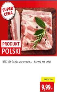 Rzeznik - Polska wieprzowina - boczek bez kości, 9,99zl/kg @Lidl