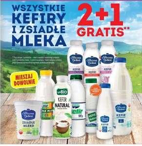 Wszystkie kefiry i zsiadłe mleka | 2 + 1 gratis | Biedronka |