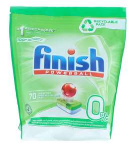 Tabletki do zmywarki Finish Powerball 0% 70 sztuk
