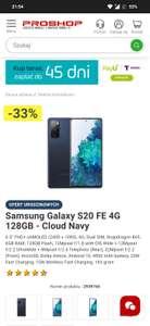 Smartfon Samsung Galaxy S 20 fe 4g - 6/128 GB