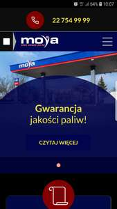 Tankuj taniej o 8gr na Litrze paliwa Moya express