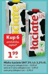 Mleko Łaciate UHT 2% lub 3,2% przy zakupie 6szt. Auchan