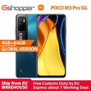 Xiaomi POCO M3 Pro 5G smartphone Global Version 4G 64GB NFC Smartphone, Octa-Core Dimensity 700, 5000mAh 90Hz