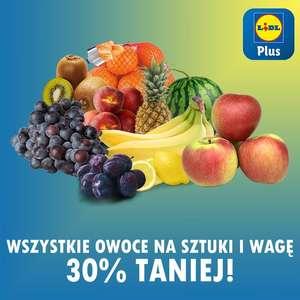 Wszystkie owoce na sztuki i wagę 30% taniej - Lidl