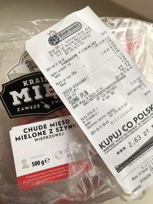 Chude mięso mielone z szynki wieprzowej 1+1 gratis