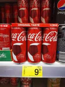 Coca Cola, puszka 330ml. Cena przy zakupie 6 sztuk. Carrefour