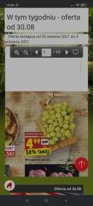 Winogrono jasne 4,99zł/kg w Biedronce