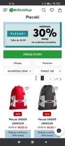 -30% na plecaki na eobuwie.pl