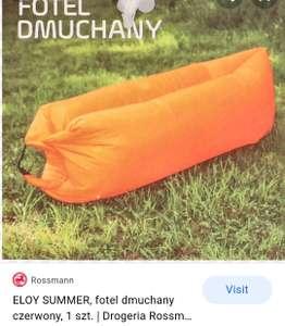 Rossmann dmuchany fotel ogrodowy.