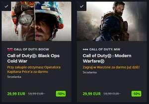 Call of Duty: Black Ops Cold War i Modern Warfare 2019 -50% i nie tylko