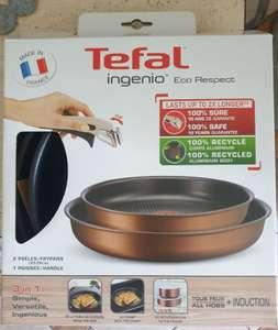 Tefal Ingenio Eco respect 3 elementy (rączka, dwie patelnie - 22cm i 26cm)