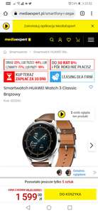 Smartwatch Huawei Watch 3 Classic brązowy