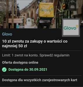 Glovo 10 zł zwrotu za zakupy o wartości co najmniej 50 zł