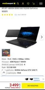 "Laptop LENOVO Legion 5 15ARH05 15.6"" IPS R7-4800H 8GB SSD 512GB GeForce 1650Ti"