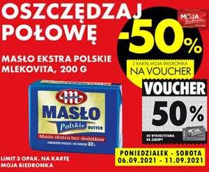 Masło Ekstra Mlekovita 200g (50% w formie vouchera) - Biedronka