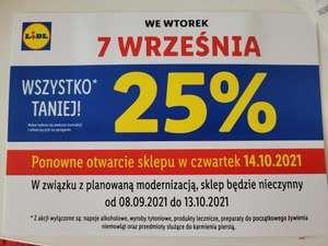 Lidl Lindego Kraków -25% remont sklepu