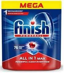 Finish All-in-one Max 76szt za 29.99zł (39gr/szt) najlepsze wg UOKiK :)