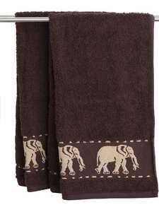Bardzo dobra cena za Ręcznik MALUNG 50x100 brązowy, 100% bawełna 500g/m Jysk.