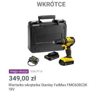 Allegro Mega Okazje Wiertarko-wkrętarka Stanley FatMax FMC608C2K 2xAk 18V