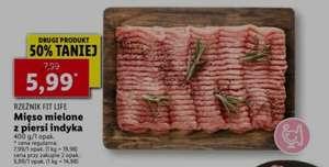 Mięso mielone z piersi indyka (400g) drugi produkt 50% taniej @Lidl