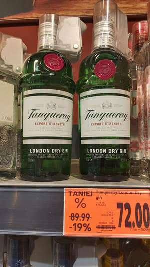 Tanqueray Export Strength London Dry Gin 0,7 l - Kaufland