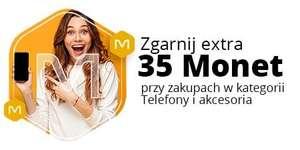+35 Monet przy zakupie za minimum 395 zł w kategorii Telefony i akcesoria @Allegro