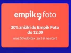 30% zniżki do Empik Foto oraz 50 odbitek za 1 zł