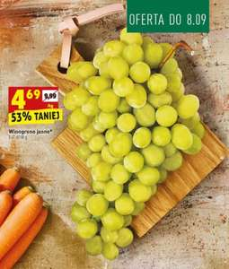 Winogrona jasne 1kg Biedronka