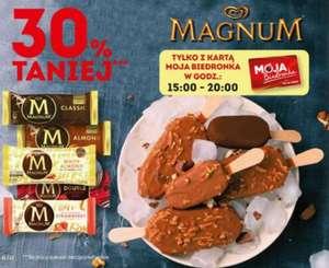 Lody na patyku Magnum -30% w godzinach 15:00-20:00