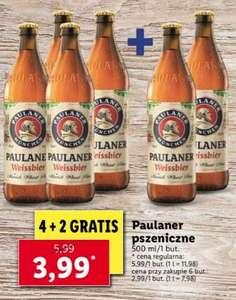 Piwo Paulaner Weissbier 0,5l cena przy zakupie 6 sztuk (4 + 2 gratis) @Lidl