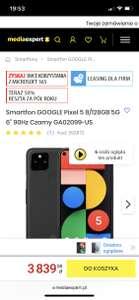 Smartfon GOOGLE Pixel 5 8/128GB 5G