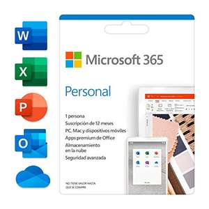 Microsoft 365 Personal dla 1 komputera PC/Mac (Wersja pudełkowa wysłana pocztą) 29,40€