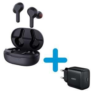 Słuchawki Aukey EP-T25 Bluetooth 5.0 + Aukey PA-R1 (gratis)