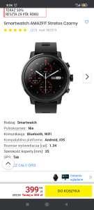 Smartwatch AMAZFIT Stratos Czarny w Mediaexpert